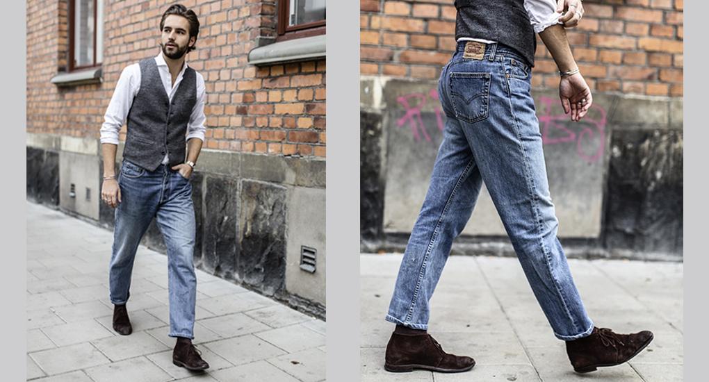 hur töjer man ut jeans