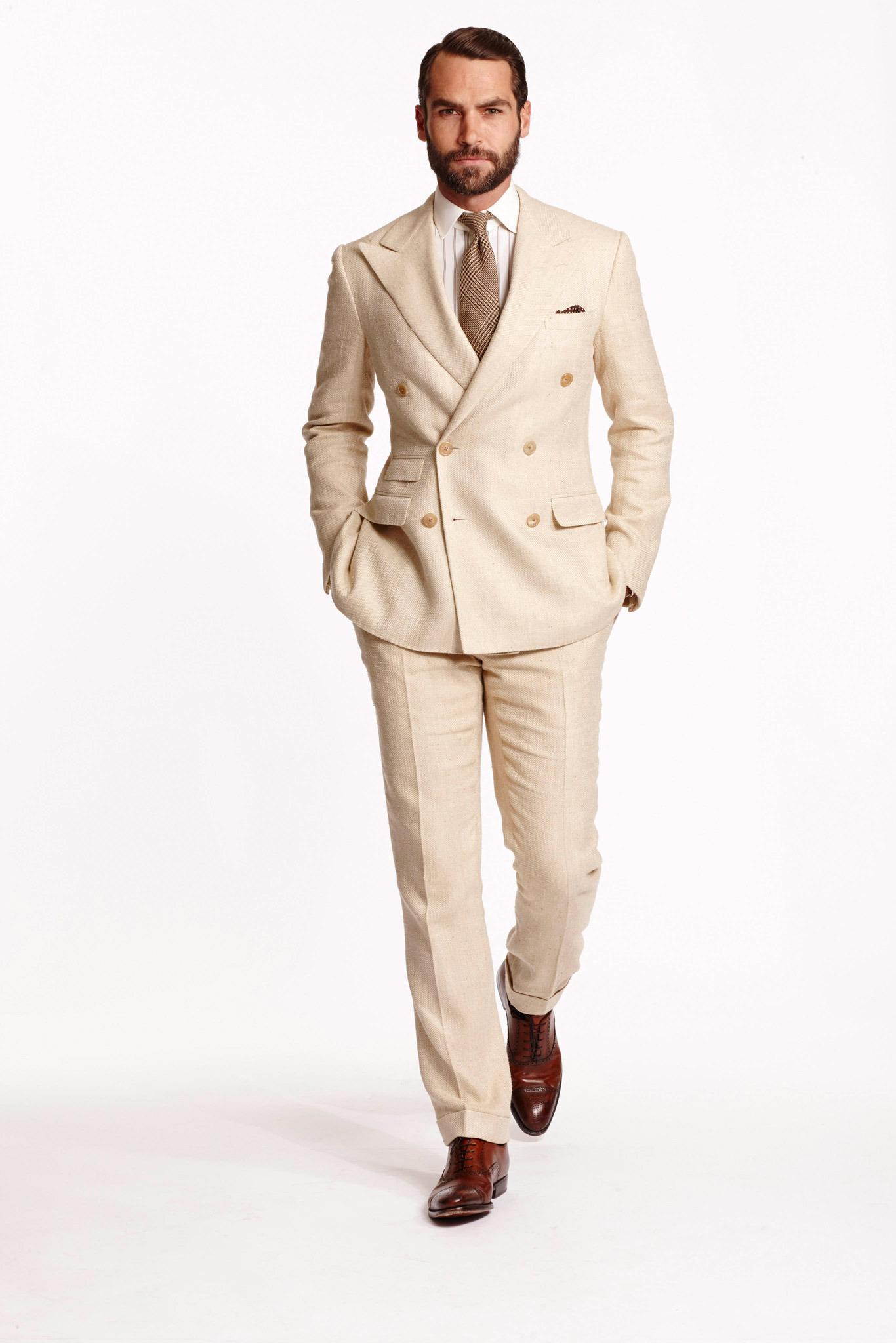 vit kostym herr