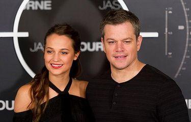"""Matt Damon hyllar Alicia Vikander: """"Hon är så het man kan bli"""""""