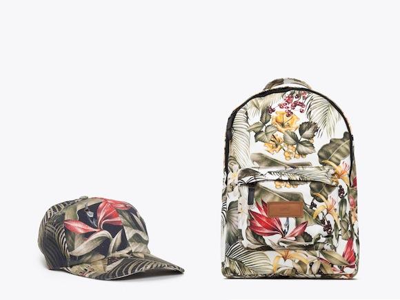 blommig vans ryggsäck